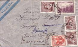 ARGENTINE - LETTRE POUR LA FRANCE - LE 17-5-1950 - VERSO GRIFFE SPECIALE DESTINATAIRE INCONNU DES FACTEURS DE BIARRITZ L - Ganzsachen