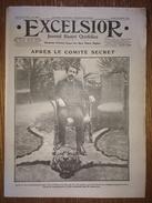 Excelsior N°2064 10/07/1916 Aprés Le Comité Secret (Clémenceau) - Gala à Versailles - Le Roi D'Espagne à Saint Sébastien - Journaux - Quotidiens
