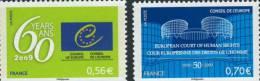 SERVICE CONSEIL DE L'EUROPE 142 à 143 De 2009  NEUFS  ** - Neufs