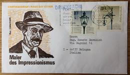 Drucksache Nach Bologna Emilia Levante (Italien) Mit Stempel: Berlin 21.9.1979, M. Liebermann, Straßen-Laternen - Brieven En Documenten