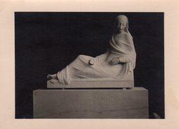Carte Photo Originale Statue & Tombeau De Franz Von Voltolini 1882 - 1910 - Personnes Identifiées