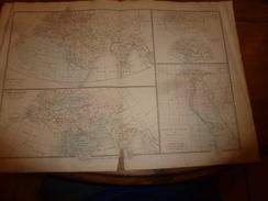 1861 Carte Géographique: Monarchies D'Orient & Anciennes Races, Egypte Ancienne -par Drioux Et Ch. Leroy, Grav. Jenotte - Geographical Maps