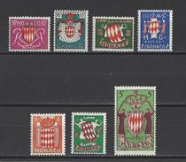 MONACO . YT 405/411 Neuf ** Armoiries 1954 - Unused Stamps