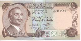 Billet Neuf D'un Demi-dinar De Jordanie - Jordanie