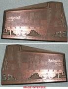 Ancien Tampon D'imprimerie En Cuivre Wagon De Marchandises Bière Reichelbrau Bieres - Cachets