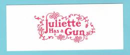 Cartes Parfumées Carte JULIETTE HAS A GUN - Modernes (à Partir De 1961)