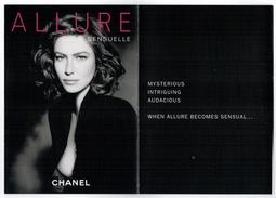 Cartes Parfumées Carte CHANEL DÉPLIANT AlLURE Et   ALLURE  SENSUELLE  De CHANEL 5 RECTO VERSO - Perfume Cards