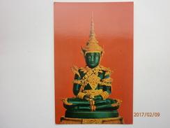 Postcard Close Up Emerald Buddha In Summer Attire Temple Bangkok Thailand My Ref B1736 - Buddhism