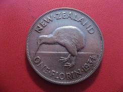 Nouvelle-Zélande - One Florin 1934 George V 5574 - New Zealand