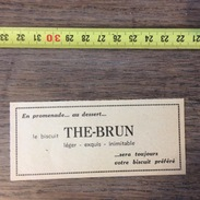 PUB PUBLICITE BISCUIT THE BRUN - Collections