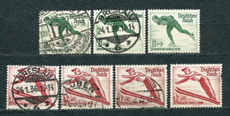 Deutsches Reich 1935, MiNr 600-602 (uncomplete), Used - Lot Of 5 Stamps; NOTE: 2 Stamps (*) Are FREE - Used Stamps