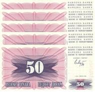 BOSNIA & HERZEGOVINA 50 DINARA 1992 P-12 UNC 5 PCS [BA012] - Bosnia And Herzegovina