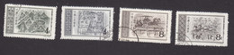 PRC, Scott #295-298, Used, Murals, Issued 1956 - Usados