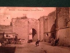 Cartolina Brindisi Porta Mesagne E Torrione Carlo V  Carretti  Non Viaggiata  Formato Piccolo - Brindisi
