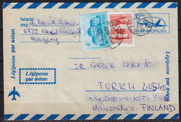 Boeing 747 - 1992 Hungary / Finland Turku - AIR MAIL PAR AVION - Postal Stationery - Cover Letter Envelope - Used