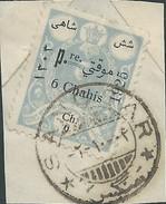 PERSIA IRAN PERSE PERSIEN PERSIAN ON PAPER CUT 6CH 1925 (1304 SOLAR) CANCELLED SANGSAR - Iran