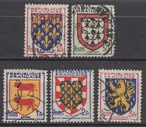 FRANCE 1951 - SERIE  Y.T. N° 899 A 903  - 5 TP OBLITERES - France