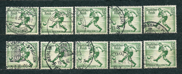 Deutsches Reich 1936, MiNr 611 (from Set 609-616), Used - Lot Of 10 Stamps - Oblitérés