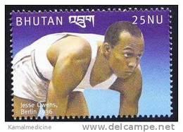Bhutan MNH, Jesse Owens, Berlin 1936, Olympic Games, Sports