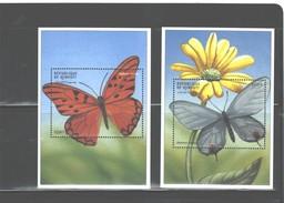 REPUBLIQUE De DJIBOUTI 2000, MNH, MS #798 - 799, $11.00 - BUTTERFLIES - Schmetterlinge