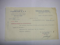 EMPOLI  --FIRENZE   --  SOCIETA' ANONIMA  FIAMMIFERI   R.P.F. - Italie