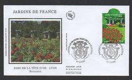 DF / FDC DU TP 4047 JARDINS DE FRANCE / PARC DE LA TÊTE D'OR À LYON / OBL. PREMIER JOUR 28.04.2007 LYON - Lettres & Documents