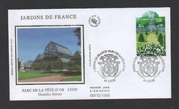 DF / FDC DU TP 4048 JARDINS DE FRANCE / PARC DE LA TÊTE D'OR À LYON / OBL. PREMIER JOUR 28.04.2007 LYON - Lettres & Documents