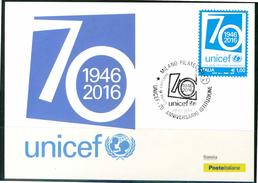 ITALIA / ITALY 2016 - UNICEF - Maximum Card Come Da Scansione