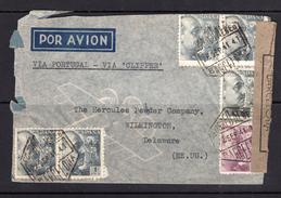 España 1941. Correo Aereo De Barcelona A Wilmington. Censura. - Marcas De Censura Nacional