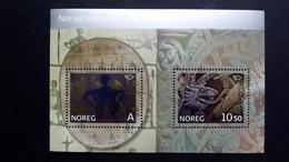 Norwegen 1570/1 Block 30 **/mnh, Nordische Mythen: Lapp. Schamanentrommel, Relief An Der Kirchtür Von Hylestad