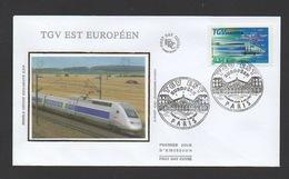 DF / FDC DU TP 4061 / TRANSPORTS / TRAIN / INAUGURATION DU TGV EST EUROPÉEN / OBL. PREMIER JOUR 9.06.2007 PARIS - Trenes