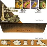 El Salvador 2006 Dinosaur Prehistoric Fossils Set/4 #1648-51 FDC - El Salvador