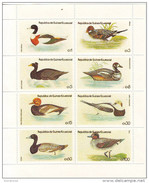 1444 Guinea Equatoriale 1978 Ecuatorial Water Birds Anatre Ducks Sheet Perforato Nuovo MNH