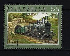 Österreich - Mi-Nr. 2608 - Eisenbahnen Dampflokomotive Baureihe 106 Der Pyhrnbahn Gestempelt (3) - 1945-.... 2. Republik