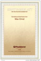 """ALLEMAGNE / FRANCE  1988 : Encart 1er Jour De 6 Pages : """" Max Ernst """"  N° YT 2501 / 1183. Parfait état. - Emissions Communes"""