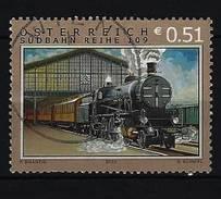 Österreich - Mi-Nr. 2394 Schnellzug Mit Lokomotive Der Baureihe 109 Im Alten Wiener Südbahnhof Gestempelt (2) - 1945-.... 2. Republik