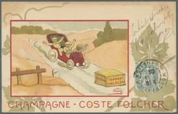 """WERBUNG / REKLAME, 15 Verschiedene Französische Werbekarten Und Bilder """"Champagne"""" Aus Den Jahren 1900/1930,... - Postcards"""