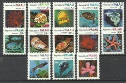 Palau 1983, Fauna Marina (**), Serie Completa - Palau