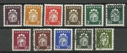 LETTLAND Latvia 1940 Michel 281 - 291 */o - Lettland