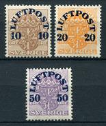 28861) SCHWEDEN # 138-40 Postfrisch Aus 1920, 45.- €