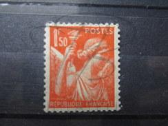 """VEND TIMBRE DE FRANCE N° 435 , TRAIT DE COULEUR DANS LE """" 1 """" , NEUF AVEC CHARNIERE !!!! - 1939-44 Iris"""