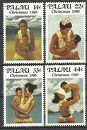 Palau 1985, Natale: Madri Indigene Con Bambini (**), Serie Completa - Palau