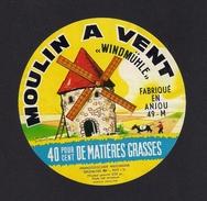 """Etiquettes De Fromage.  """"Moulin à Vent"""", Fabriqué En Anjou. - Fromage"""