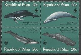 Palau 1983, Protezione Della Fauna: Cetacei (**), Serie Completa - Palau