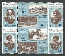 Palau 1983, Viaggio Del Capitano H. Wilson (**), Serie Completa - Palau