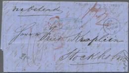 1859, DKr K.S.P.A.HAMBURG, Rücks. Auf Brief Von Hull, England Nach Stockholm, Rücks. Transitstpl. KDOPA...
