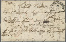"""1852, """"STARNBERG"""" HKr Auf Brief An Einen Soldaten In Der Bundesfestung ULM, Der Dort Noch Im Kontext Der Badischen... - Bavaria"""