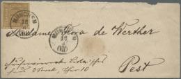 1850/1862, 6 Kreuzer Auf Faltbrief Von München Nach Buxheim (unvorschriftsmäßig Ohne Ank.-Stpl.),... - Bavaria