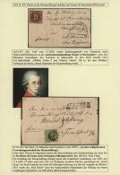 """1850, 9 Kreuzer Entwertet Mit """"217"""" München Auf Faltbrief An Die """"MOZART-STIFTUNG"""" In Frankfurt/Main Und 6... - Bavaria"""