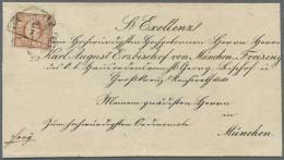 1849, 6 Kr. Rötlichbraun, Type I, Breitrandig Mit Zwischenlinien An Beiden Seiten, Auf Dekorativem... - Bavaria
